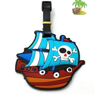 """ВВ-08 Бирка для багажа Пиратский корабль фото анфас товары для путешественников интернет-магазин """"В Отпуск"""" от SeredinaLeta"""