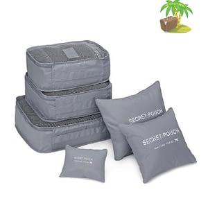 DS-12SR Главное фото малый набор 6шт. тканевых сумочек в чемодан серого цвета. Товары для отдыха. Интернет-магазин В Отпуск
