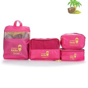 MS-001K Детский набор сумок 4 предмета розовый главное фото. Товары для отдыха. Интернет-магазин В Отпуск