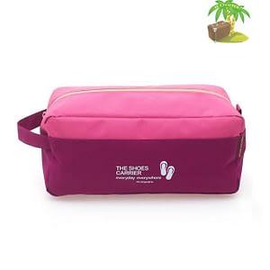 Главное фото розовый тканевый чехол для обуви. Товары для отдыха. Интернет-магазин В Отпуск