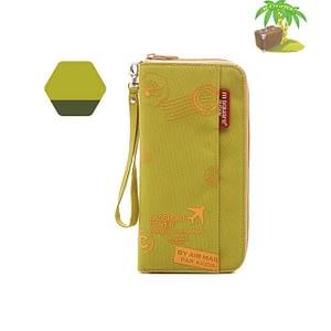 Главное фото дорожный органайзер для документов зелено-салатовый с принтом. Товары для отдыха. Интернет-магазин В Отпуск