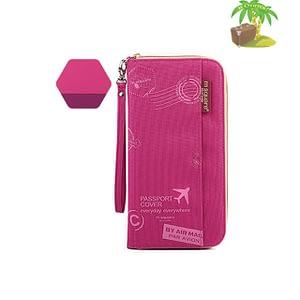 Главное фото дорожный органайзер для документов розовый с принтом. Товары для отдыха. Интернет-магазин В Отпуск