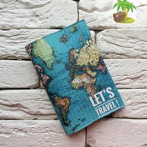 Главное фото паспортная обложка Карта синяя. Коллекция обложек Путешествуй!