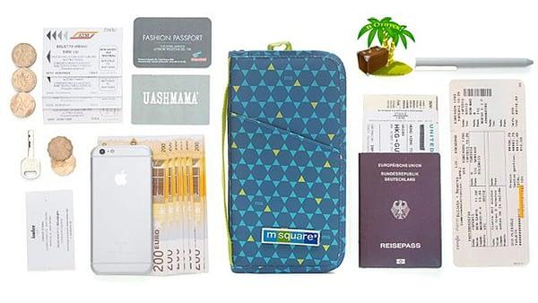 Фото наполнение синего в ромб органайзер для паспорта. Товары для отдыха. Интернет-Магазин В Отпуск