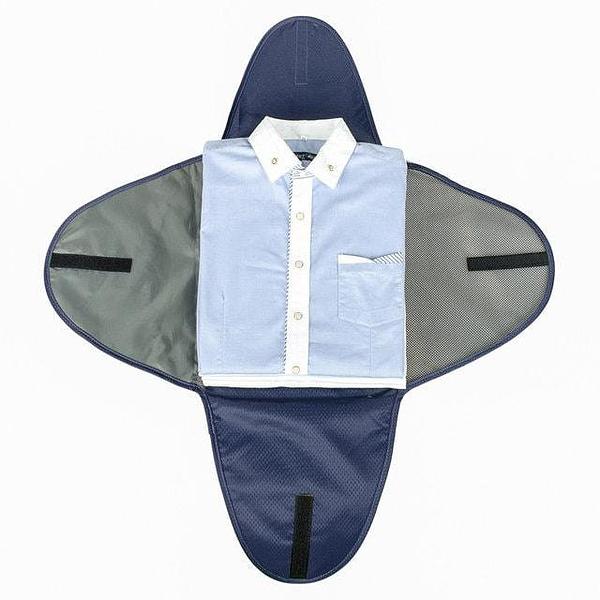 PO-02 Синий органайзер для рубашек, юбок и брюк. Фото 2 упаковка рубашки. Товары для отдыха. Интернет-магазин В Отпуск
