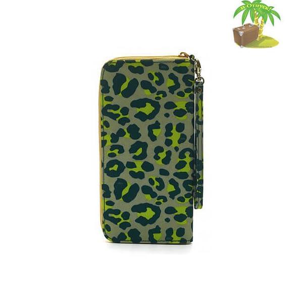 Фото оборот дорожного органайзера цвета зеленый леопард. Товары для отдыха. Интернет-магазин В Отпуск