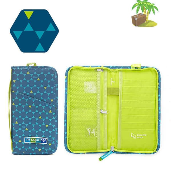 Фото паспортный органайзер в ромбик синий с разворотом. Товары для отдыха. Интернет-магазин В Отпуск