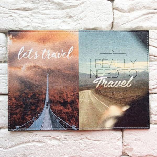 Фото разворот паспортная обложка I really need to travel. Коллекция обложек Путешествуй!