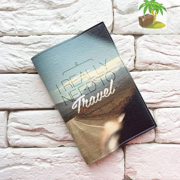 Главное фото паспортная обложка I really need to travel. Коллекция обложек Путешествуй!
