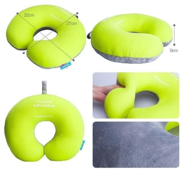 Дорожная подушка с наполнителем формы рогалик. Фото размеры и материал. Интернет-магазин В Отпуск