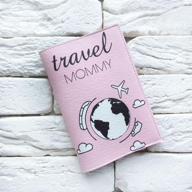 Фото 1 Обложка на паспорт Тревел Мама розовый
