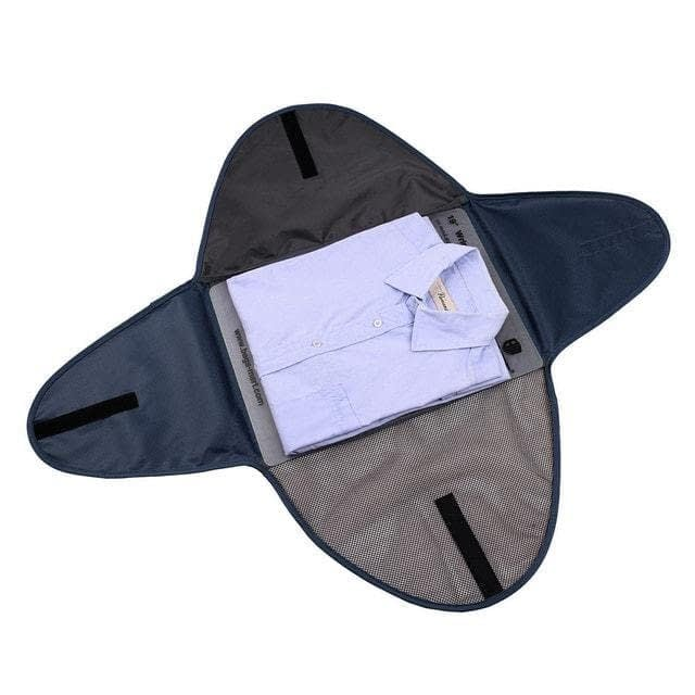 PO-02 Синий органайзер для рубашек, юбок и брюк. Фото в развороте. Товары для отдыха. Интернет-магазин В Отпуск
