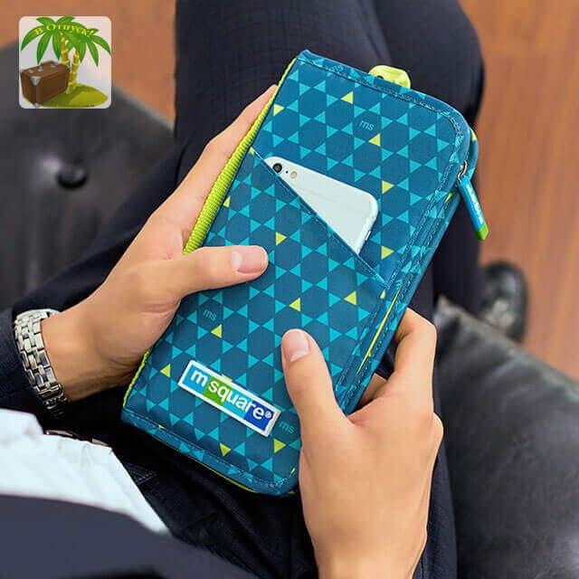 Фото мужской вариант органайзера для паспорта коллекции синий ромб. Товары для отдыха. Интернет-магазин В Отпуск